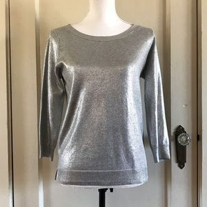 BANANA REPUBLIC - Metallic Scoop Neck Sweater S
